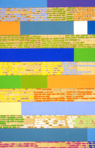 Claire Mooney abstract art 2006 Word Processor (detail)
