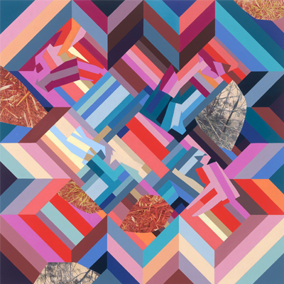 Claire Mooney - Abstract Art - Interfold (parklands)