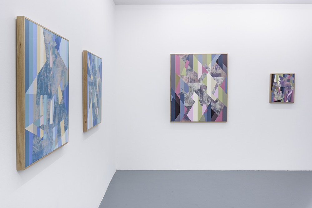 Installation: A part and between, Five Walls<br>Winter Sun, Aurora, Parapet, Splinter<br>Image credit: Christopher Sanders